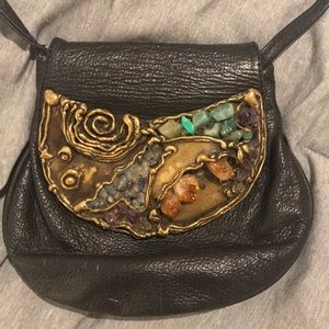 Authentic leather and stone bag bought in Brazil